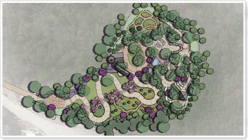 Atlanta Botanical Garden Children's Garden Plan Rendering