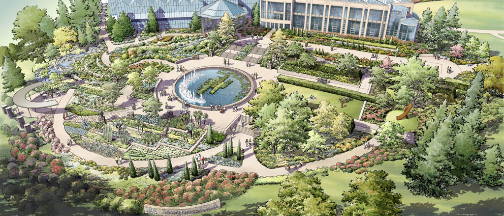 Atlanta botanical garden master plan for Painting places in atlanta
