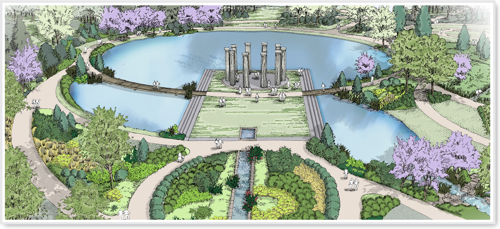 Huntsville botanical garden master plan for Botanical garden design